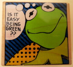 Inkadinkado rubber stamp kermit easy being green