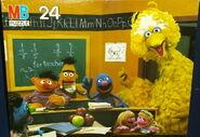 Milton bradley 1992 puzzle sesame school