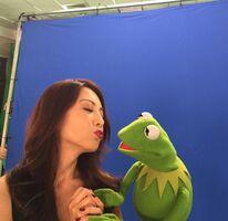 Ming-Na Wen kiss
