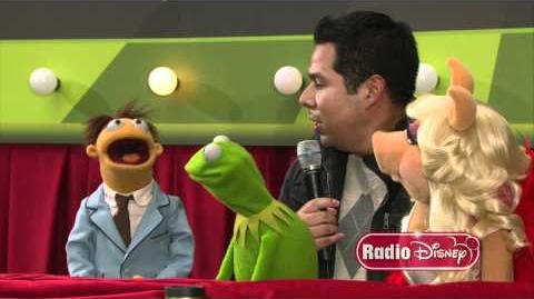 "The Muppets with Radio Disney's Ernie D. on the ""Green"" Carpet!"