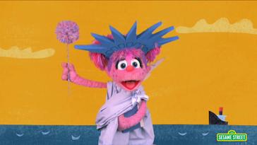 SesameStreet-Hello,Halloween!-StatueOfLiberty-Abby-(2014)