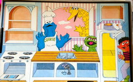 Colorforms cookie monster's kitchen