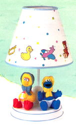 Dolly toy nursery lamp