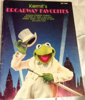 Hal leonard corp piano sheet music kermit's broadway favorites