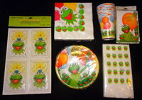 Hallmark 1981 kermit birthday party supplies