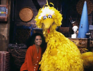 Diana Ross and Big Bird