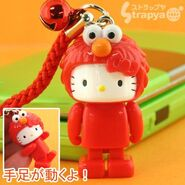 Strapya 2011 mascot hello kitty plastic small elmo japan