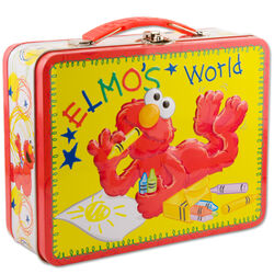 Elmos world tin lunch box