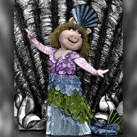 Piggy mermaid on tour - colorized