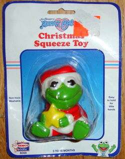 1989 mbabies christmas squeeze toy