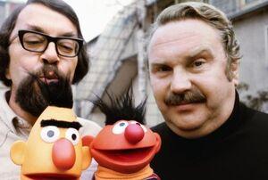 Sesamstrasse-Bert-(Wolfgang-Kieling)-and-Ernie-(Gerd-Duwner)