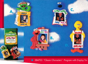 Enesco 1993 photo frame magnets