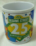 Sesame street general store mug 25 wonderful years anniversary 1