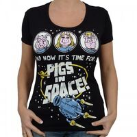 Logoshirt-PigsInSpace-Girlie-Shirt-black