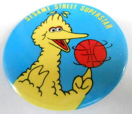 Sesame button superstar big bird