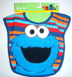 Hamco applique knit terrycloth bib cookie monster