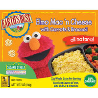 Organic Elmo Mac 'n Cheese with Carrots and Broccoli