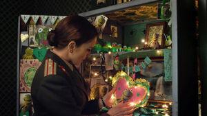 Nadya's shrine to Kermit