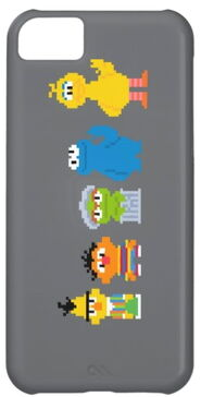 Zazzle pixel sesame street characters