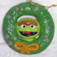 Newcor 1988 christmas ornament wreath oscar