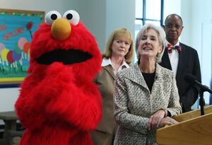 Sebelius and elmo