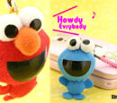 Funny Head Ring Ring plush doll cell phone straps