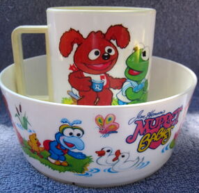 Deka 1986 muppet babies bowl and cup 1