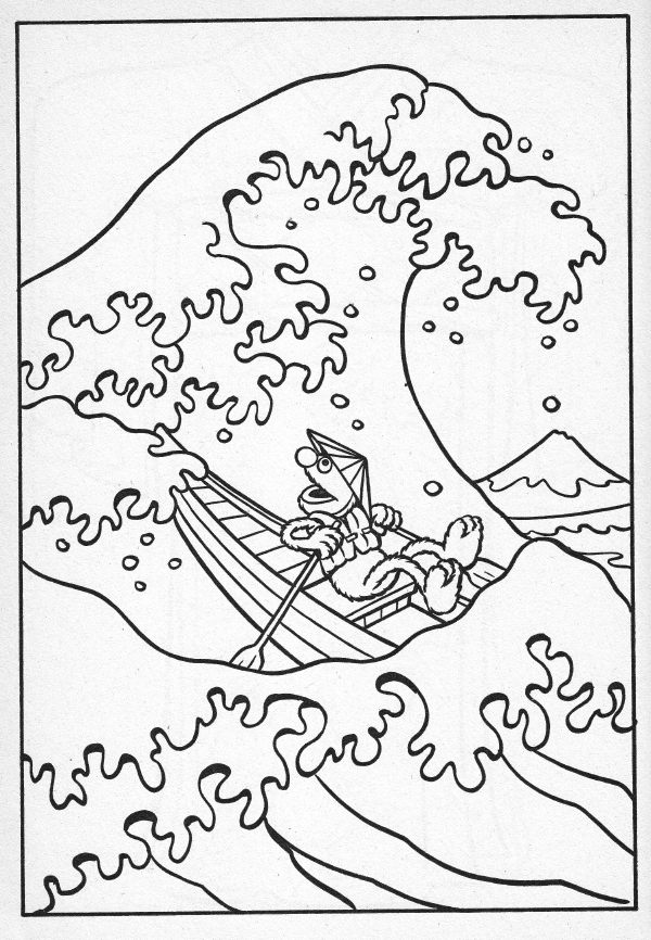 waves and splashes coloring pages - photo#8