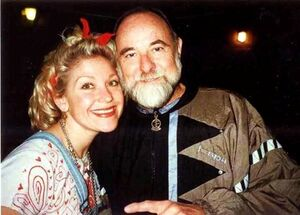 Leslie Carrara-Rudolph with Jerry Nelson