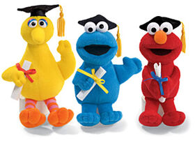 Sesame Street graduation plush