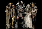 Lordi in their 'Deadache' costumes.