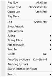 Album-Tracks Menu