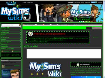 MySims Wiki Agents Theme