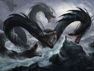 Monk vs hydra by turkiish