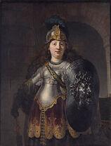 Bellona, by Rembrandt van Rijn