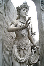 397px-Statue of Goddess or Queen at Monas
