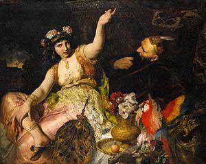 File:300px-Ferdinand Keller - Scheherazade und Sultan Schariar (1880).jpg