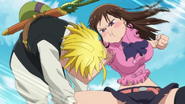 Diane punching Meliodas for not recognizing her