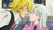 Meliodas declaring he will fulfill his promise