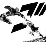 Meliodas and Ban fists clash