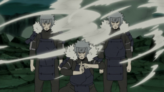Tobirama creating Shadow Clones