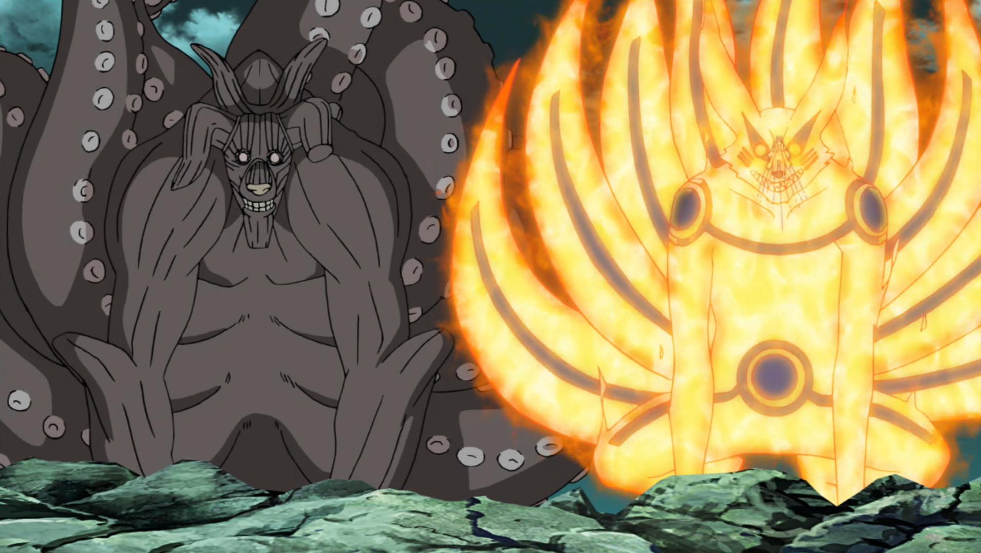 Naruto's Kurama mode.