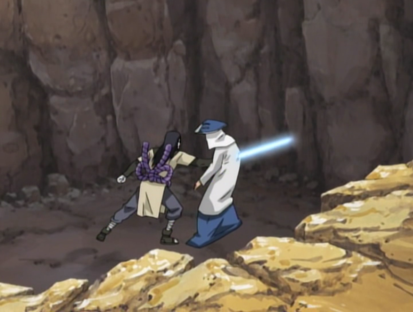 Yondaime Kazekage Vs Orochimaru Rasa is killed by Orochimaru