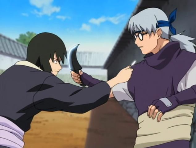 File:Shizune and Kabuto clash.png