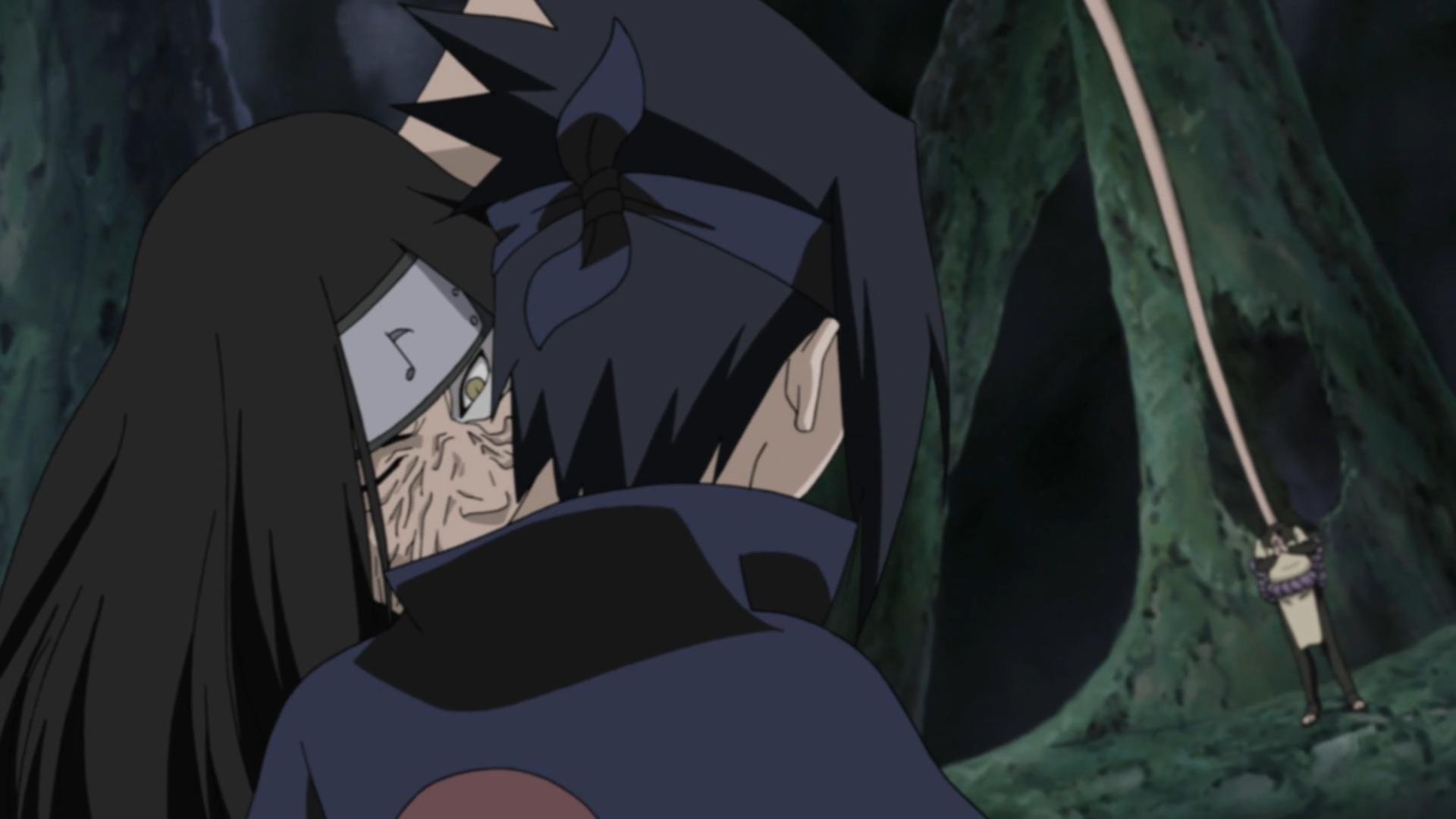 Naruto Different Curse Marks Sasuke receives curse seal