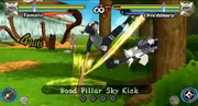 Wood Pillar Sky Kick