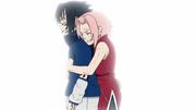Sakura stopping Sasuke