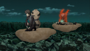 Gaara and Sakura flying