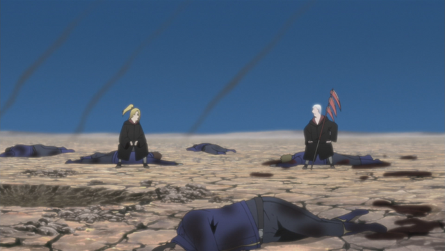 File:Deidara and hidan act as a diversion.png