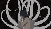 Obito wears Spiral Zetsu